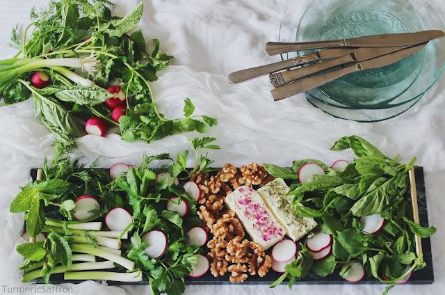 Iranian Fresh Herb Platter