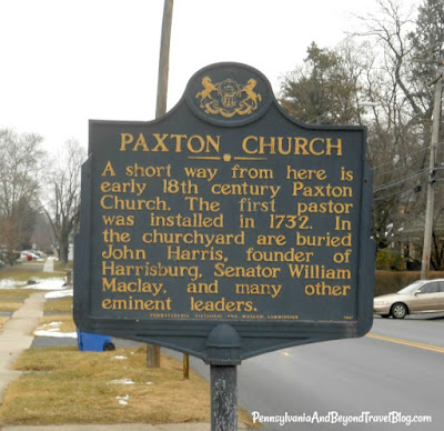 Paxton Church Historical Marker in Harrisburg Pennsylvania