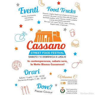 Street Food Festival e Notte Bianca 7-8 luglio Cassano d'Adda (MI)