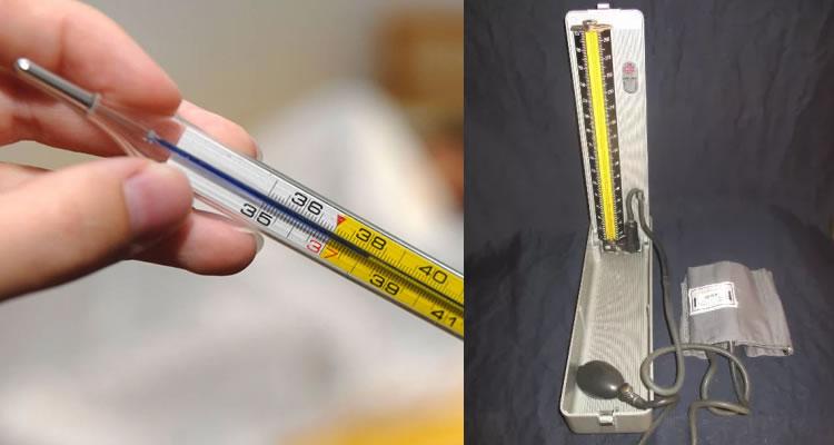 Ministério da Saúde proíbe termômetro e aparelho de pressão com mercúrio