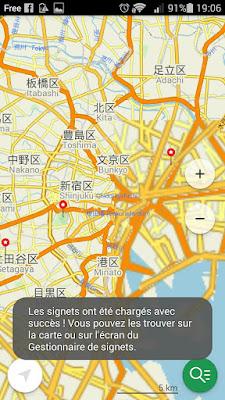 importation carte Maps.me