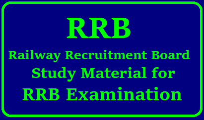 RRB Railway Recruitment Board Exam Study Material Download /2018/08/rrb-railway-recruitment-board-examination-study-material-download.html