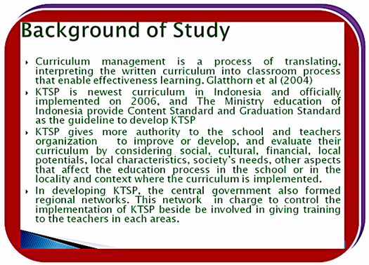 Historical Background on Indonesian Educational Reform