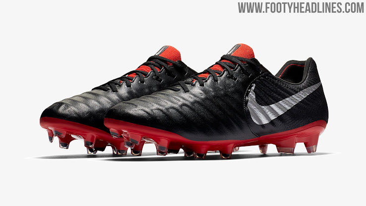 55d1877cd 2 of 2. 1 of 2. 2 of 2. 1 of 2. Predominantly black, the new Nike Tiempo  Legend 7 Elite cleats have a silver metallic ...