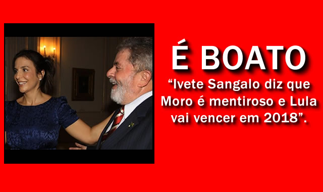 Ivete Sangalo defende Lula e diz que Sérgio Moro é mentiroso [é boato].