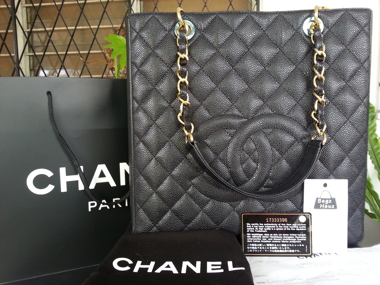 841d91d0a98cd6 Bagz Hauz Fashion: **SOLD** ~ CHANEL PST XL in Black caviar with GHW