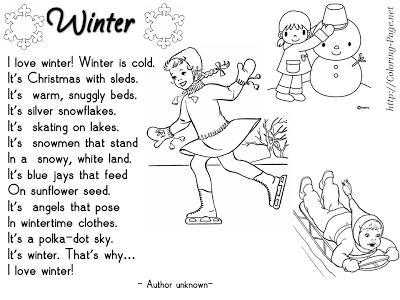 Enjoy Teaching English: WINTER POEMS (part 1)