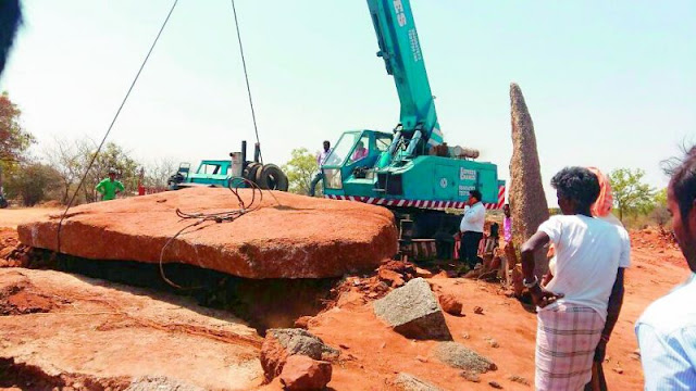 Largest capstone unearthed in South India