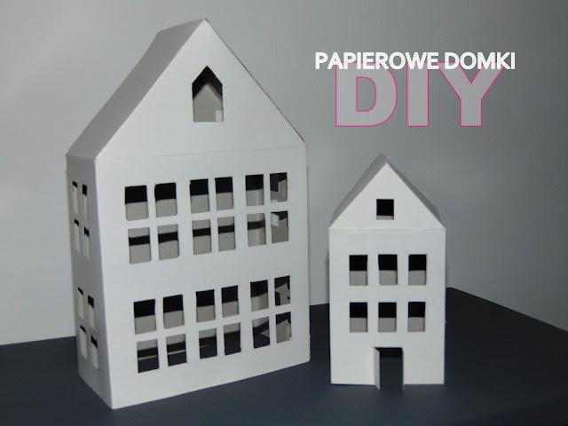 DIY : Papierowe domki - latarenki