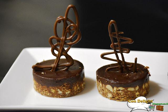 chocolate petit four פטיפור שוקולד טבעוני
