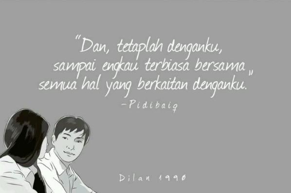Kumpulan Kata Kata Mutiara dalam Novel & Film Dilan 1990 ...