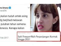 Tsamara Bungkam, Kena Tipu Soal 'Jihad Jokowi Lawan Freeport'
