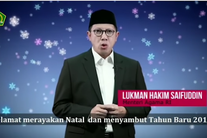 Toleransi KEBABLASAN! Video Pesan Natal Menteri Agama Kontroversi, Netizen: Sudah Murtad?