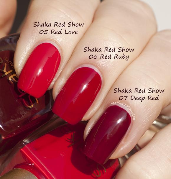 Shaka Red Show Gel look 05-06-07