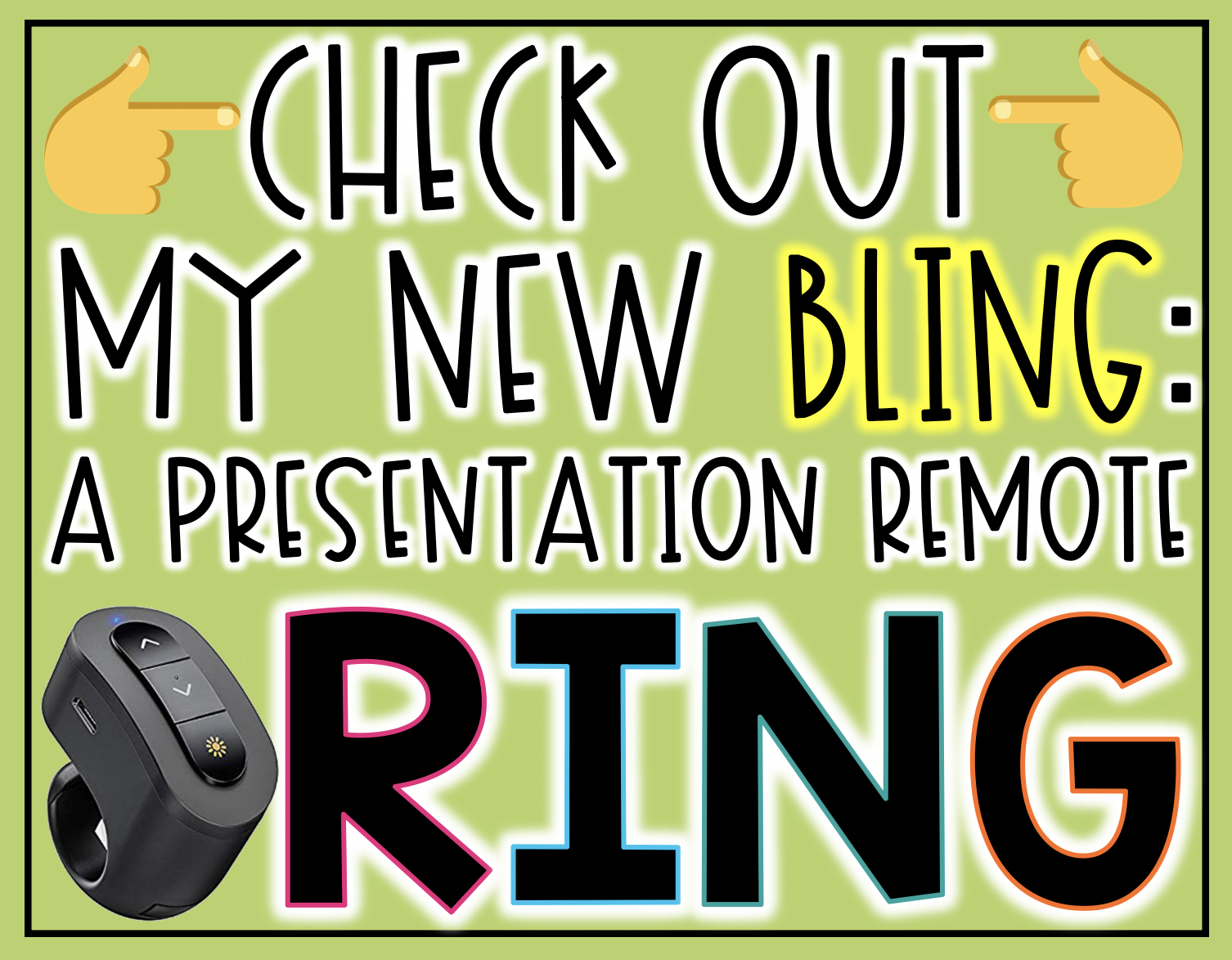 Never lose your presentation remote again while presenting with this presentation remote ring! It is compatible will all kinds of devices and programs. Come learn all about it!