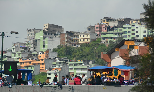 Quito colored houses