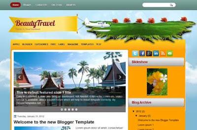 beautytravel blogger template
