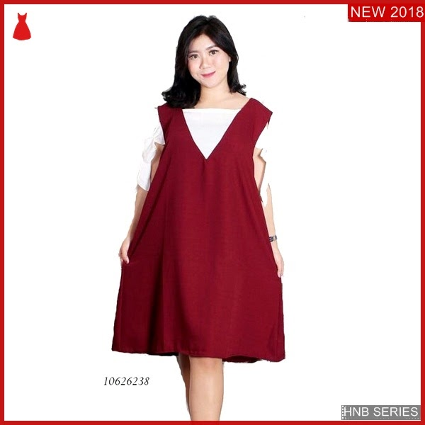 HNB142 Model dress Sabrina Ukuran Besar Jumbo Polos BMG Shop
