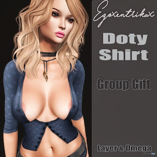 Dotty Shirt With Applier May 2017 Group Gift by Egoxentrikax