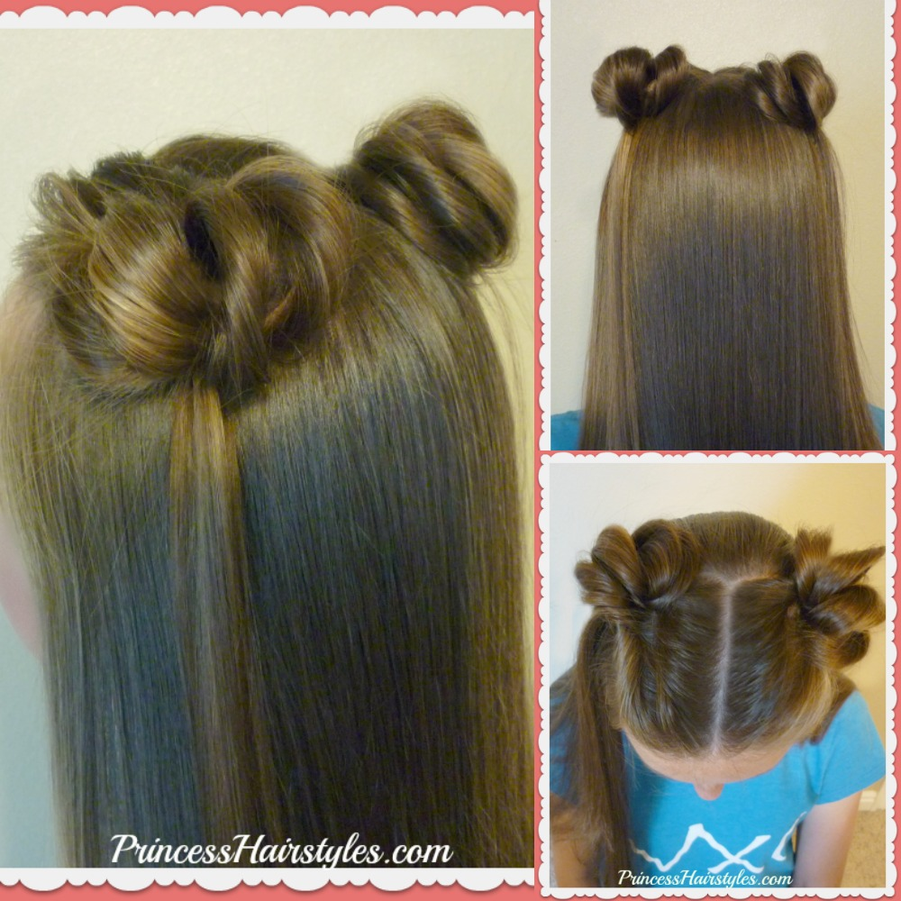 New Super Easy Way To Make Space Buns - No Bobby Pins