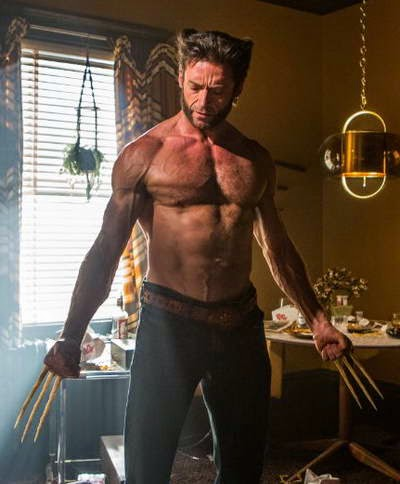 Hugh Jackman as Logan in X-Men Days of Future Past