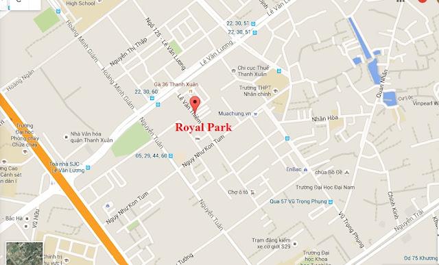 Vị trí chung cư Royal Park