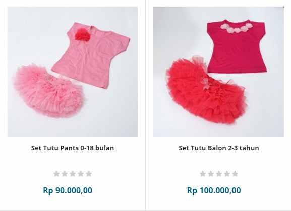 baju bayi perempuan usia 0-6 bulan