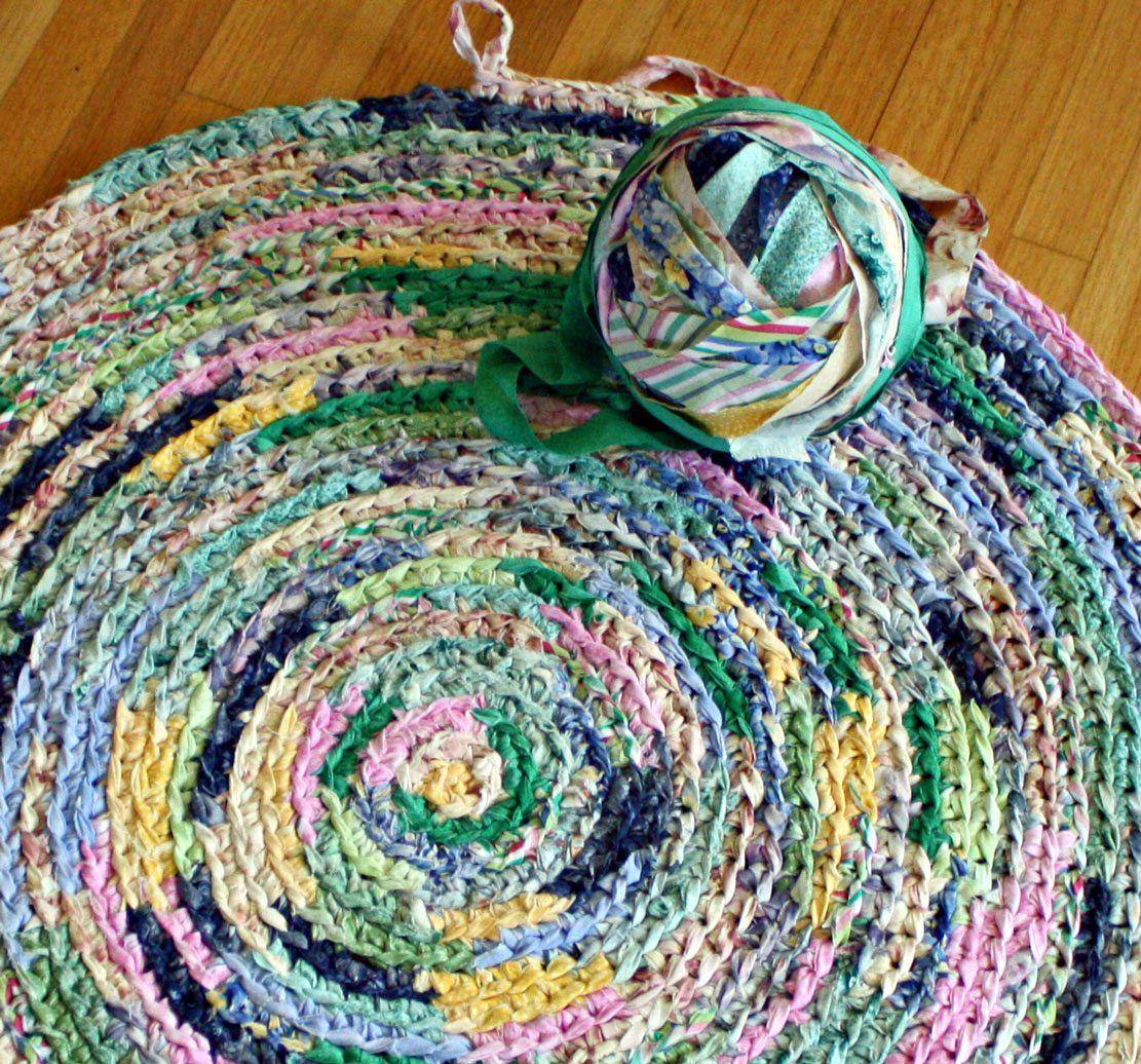 Crochet A Rag Rug Instructions: Wild Rose Vintage: