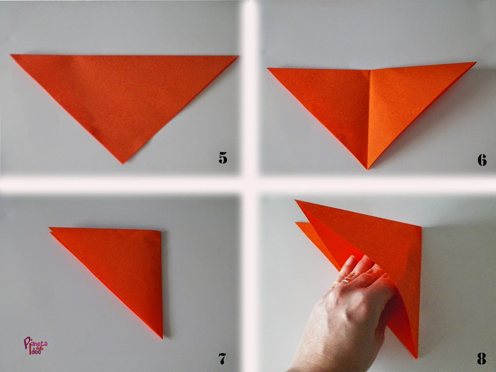 Zucca di carta origami pianeta delle idee - Si possono portare passeggeri con il foglio rosa ...
