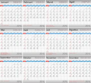 Download vektor kalender 2016 lengkap hijriyyah gratis