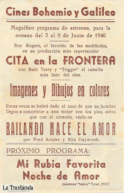 Bailando Nace el Amor - Programa de Cine - Fred Astaire - Rita Hayworth