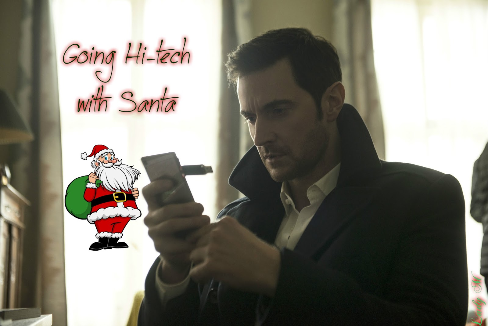 it s an r a world always trying to keep in touch santa