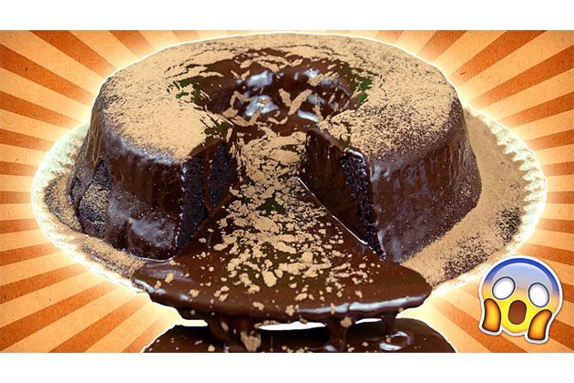 Al descubierto el truco para hacer el volcán de chocolate gigante