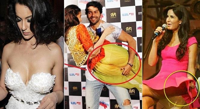 top 5 bollywood actress wardrobe malfunctions moments hindi