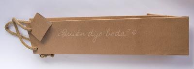 Bolsa de papel kraft para botella de vino o aceite