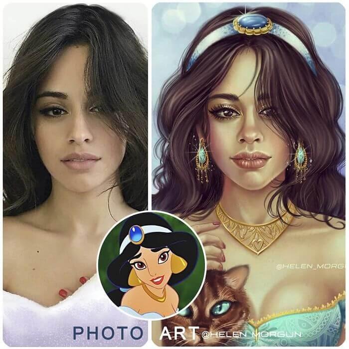 07-Camila-Cabello-As-Jasmine-Helen-Morgun-Celebrities-and-Disney-www-designstack-co