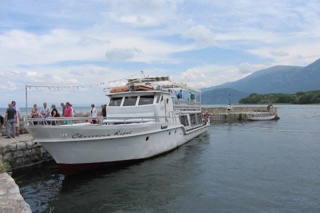 Macedonië, Ohrid, varen naar Sveti Naum