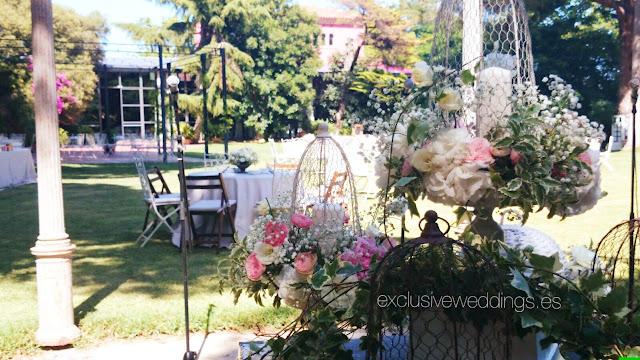 Las jaulas como elemento decorativo en las bodas Exclusive Weddings