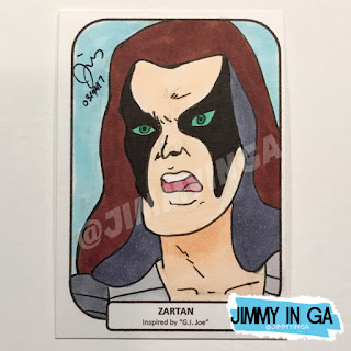 "Zartan - Leader of the Dreadnoks - Copic Makers on 2.5"" x 3.5"" Sketch Cards"