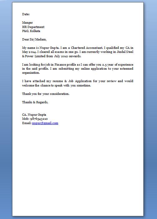 email letter resume cover letter