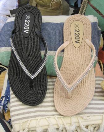 Zapatillas en color negro y nude