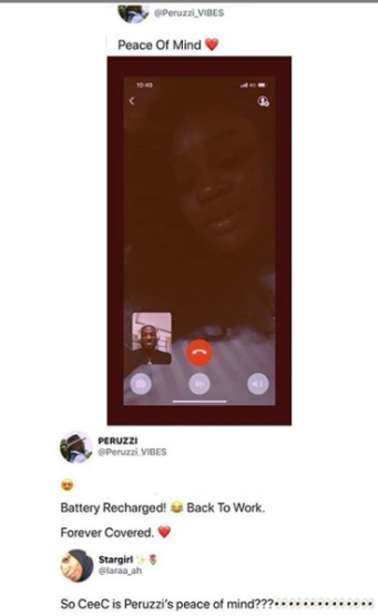 What do you think about the dating rumours betwwen Peruzzi and Ceec?