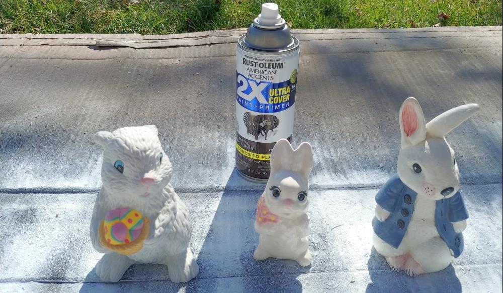 thrift store bunnies