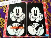 Stiker, skotlet atau garskin skin  hp lenovo a319 mickey mouse