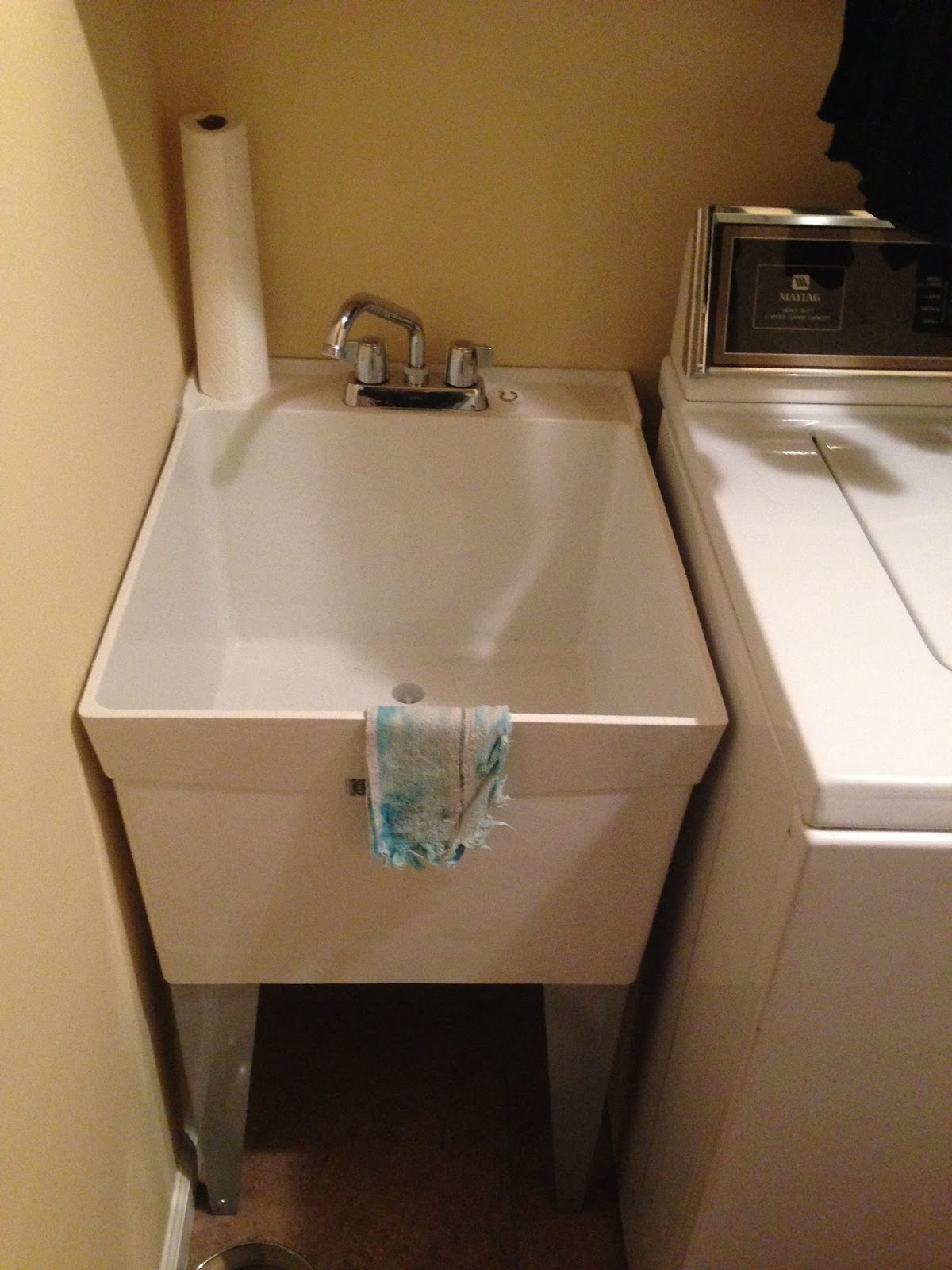 Design with Dawn: Laundry Room continued.... tub sink top