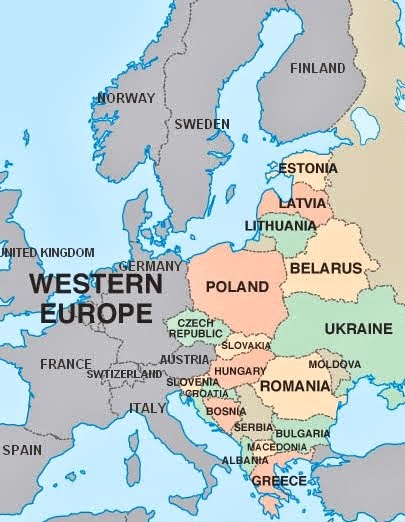 Western Eastern Europe Map | casami