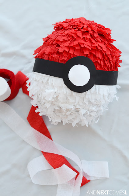 DIY Pokeball pinata from And Next Comes L