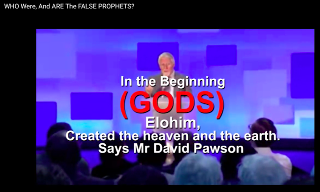 David Pawson says there are THREE GODS and NOT ONE, who created the world.