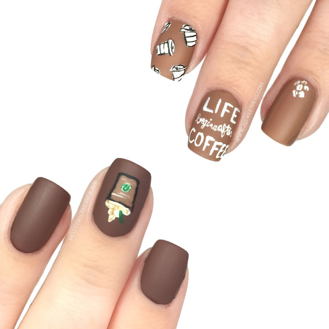 National Coffee Day Nail Art