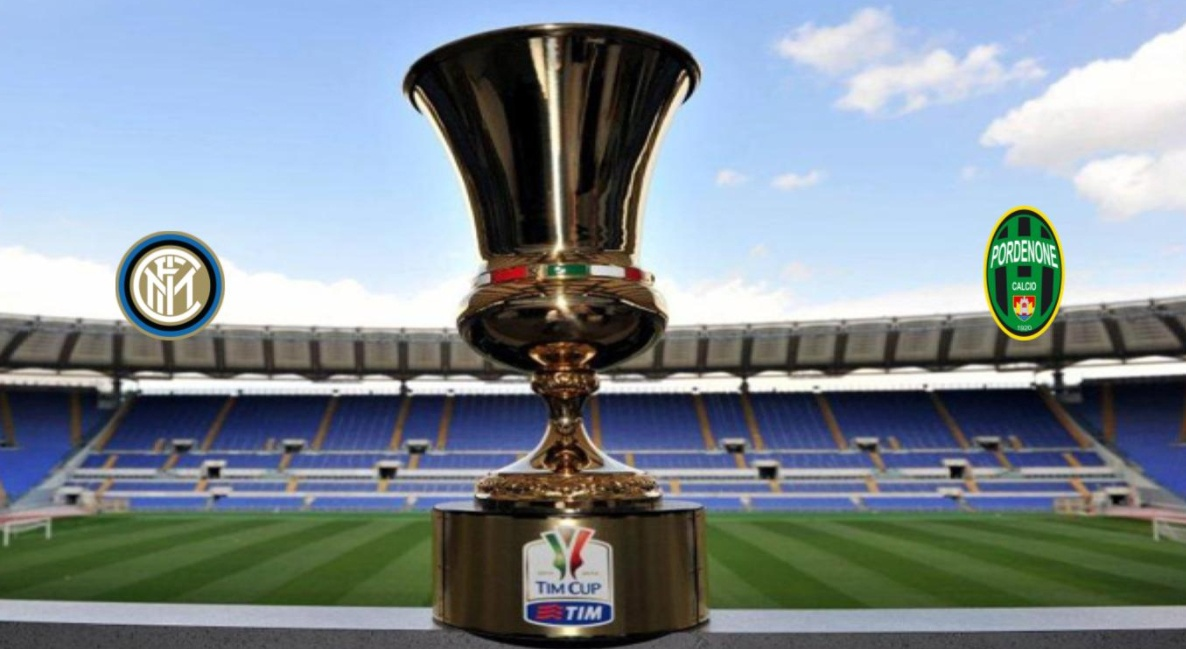 INTER-Pordenone Streaming Live: vedere Coppa Italia Gratis in Diretta TV Video su Rai Play